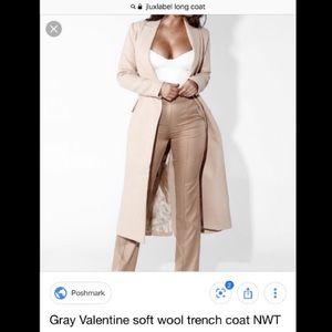 JLUXLABEL Cream Valentine Soft Wool Trench Coat✨